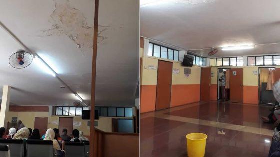 Infrastructures publiques : infiltration d'eau au plafond des urgences de l'hôpital SSRN