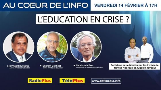 L'EDUCATION EN CRISE ?