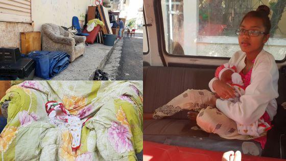Expulsés de leur maison : un bébé d'un mois et sa famille à la rue