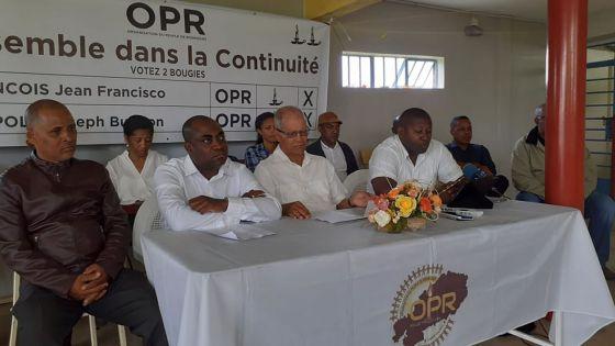Rodrigues : Buisson Léopold et Francisco François seront les deux candidats de l'OPR