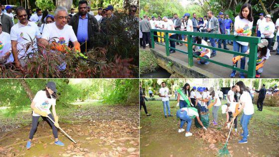[En images] Moris nou zoli pei : le PM participe à la campagne de nettoyage au jardin botanique SSR