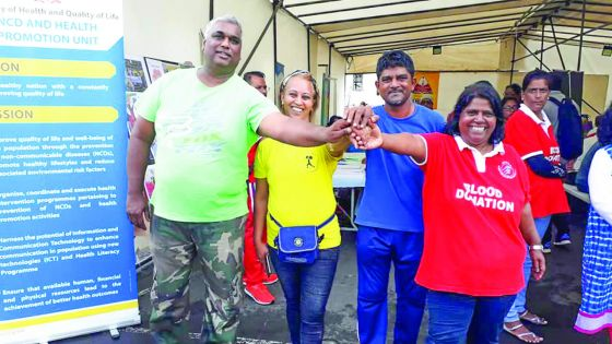 Curepipe : don de sang organisé par Volunteer Mauritius en collaboration avec la mairie de Curepipe