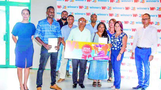 Remise de prix dans le cadre du 25e anniversaire de Winner's :Sunil Bujun s'envole pour Paris