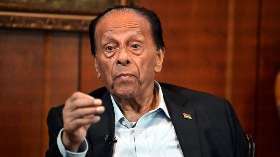 Sir Anerood Jugnauth :«Certains dans l'opposition agissent comme des pyromanes»
