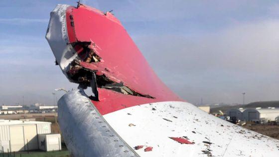Un avion endommagé à l'aéroport Paris Charles de Gaulle