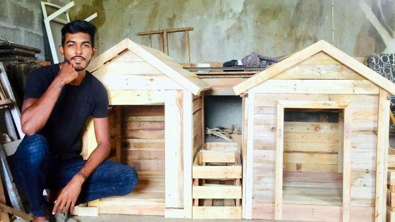 Entrepreneuriat - Menuiserie : Nirvesh Beesony, la créativité au bout des bois