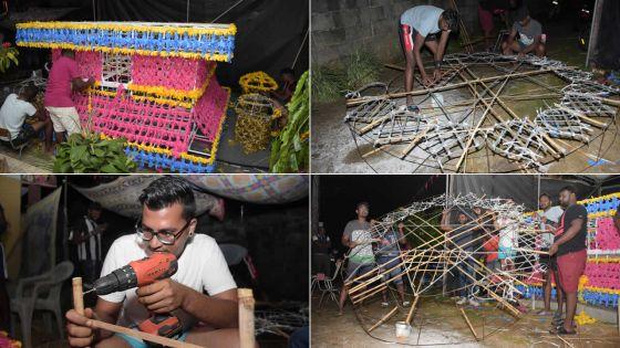 Maha Shivaratri : les dévots se mettent à pied d'œuvre pour la construction du «kanwar»