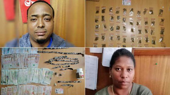 Drogues : deux arrestations et Rs 91 000 saisies
