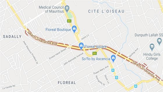 Travaux du Metro Express : fermeture d'une voie de l'avenue Swami Sivananda à Floréal