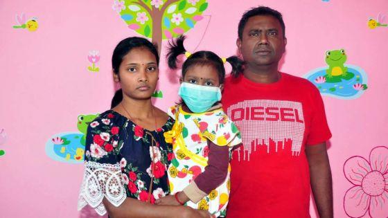 Son père sollicite l'aide des Mauriciens :Geeteeka atteinte de leucémie, doit de nouveau se rendre en Inde