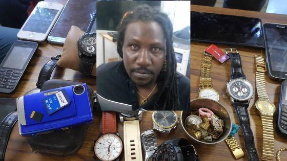 Descente policière à Caro Calyptus : un suspect épinglé et des objets volés retrouvés