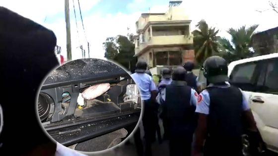 Énorme déploiement policier à Sainte-croix, samedi - Opération antidrogue : un policier blessé, un véhicule incendié