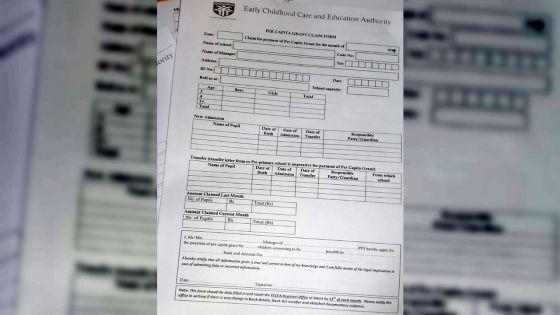 Écoles préprimaires privées : non-paiement de leur grant depuis janvier