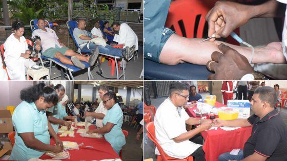 Mega blood donation au bâtiment E. Anquetil, P-Louis : plus de 1500 pintes de sang attendues ce mercredi