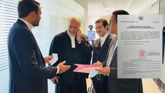 Cour suprême : Richard Duval obtient son WAP