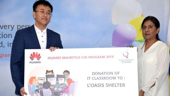 Responsabilité sociale de Huawei Technologies (Mauritius) : les enfants des «shelters» seront initiés à l'informatique