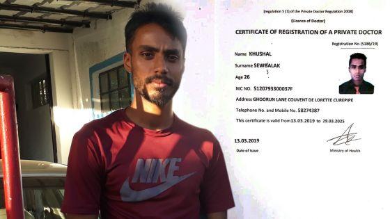Plusieurs plaintes à la police contre Khushal Sewbalak : le fauxmédecin sur la toile est un mécanicien