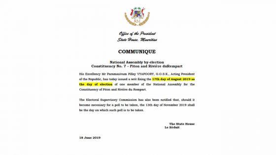 Partielle au no 7 : le communiqué qui peut prêter à confusion