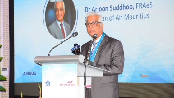 Arjoon Suddhoo, le Chairman de la compagnie d'aviation nationale.