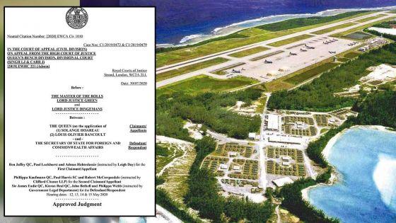 [Document] Droit de retour aux Chagos : les Law Lords rejettent l'appel de deux Chagossiens