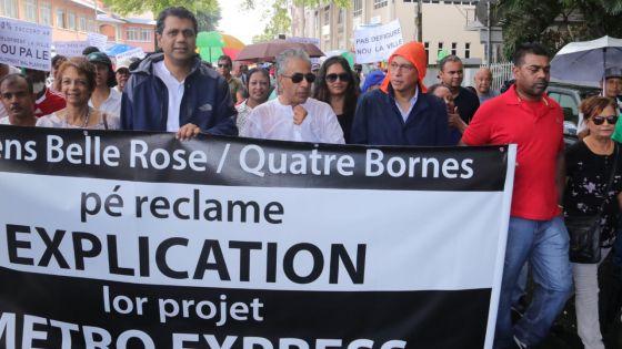 Quatre-Bornes : marche pacifique contre le Metro Express
