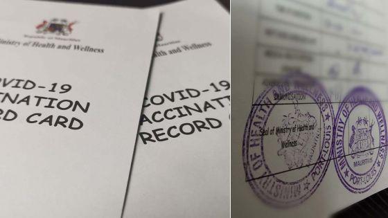 Trafic en cours depuis quelques semaines : environ 500 cartes de vaccination falsifiées en circulation dans le pays
