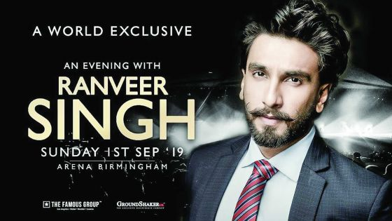An Evening With Ranveer Singh à Birmingham : le prix du billet fixé à Rs 40 000