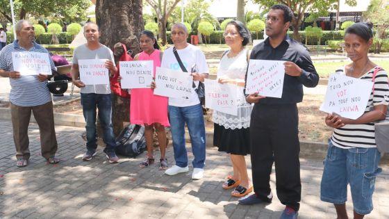 Post-Législatives 2019 : la plateforme Nou la voix Nou dignité organise une série de manifs pour dénoncer des «irrégularités»