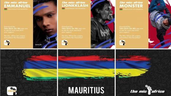 Trois artistes mauriciens sélectionnés pour l'épisode local de The Mic : Africa