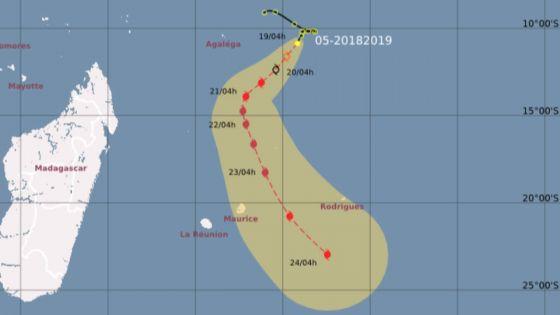 Cyclone Cilida a menace for Mauritius