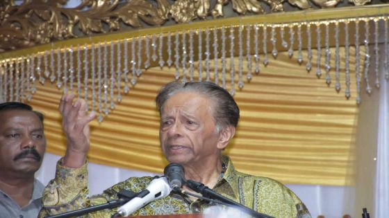 Sir Anerood Jugnauth not a candidate in next elections