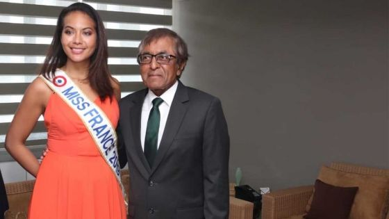 Miss France 2019 à Maurice : Vaimalama Chaves rencontre le ministre Gayan