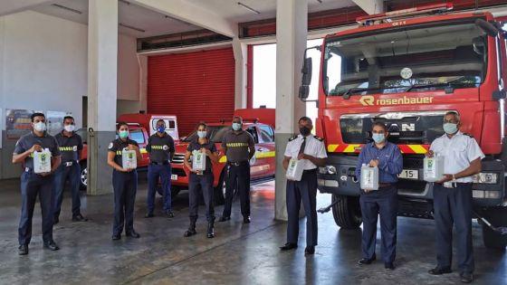 Covid-19 -Omnicane vient en aide aux pompiers de Saint-Aubin et au conseil de district de Grand-Port
