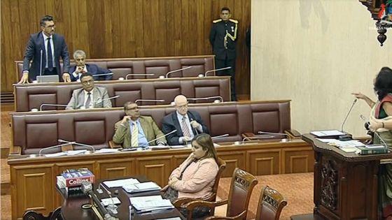 Incident à l'Assemblée nationale : Shakeel Mohamed suspendu pour trois séances