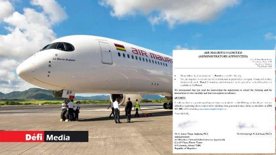 Rapport des administrateurs : le GM propose d'injecter Rs 12 Md au sein d'Air Mauritius