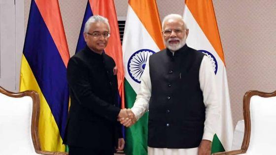 Pravind Jugnauth salue l'Inde pour son aide dans plusieurs projets