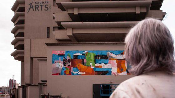 Jocelyn Thomasse et Gaël Froget animent les murs du Caudan Arts Centre