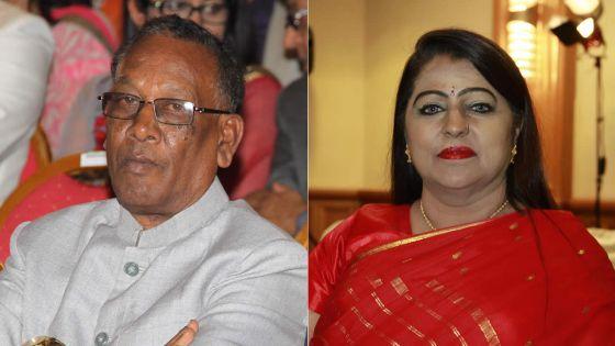 Le président de la Hindu House chez Kalyanee Juggoo