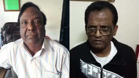 Harry Krishna Murden et Dharmanaden Sambon.