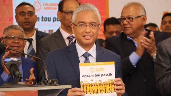 Manifeste électoral : voici les quinze «mesures phares» annoncées par Pravind Jugnauth