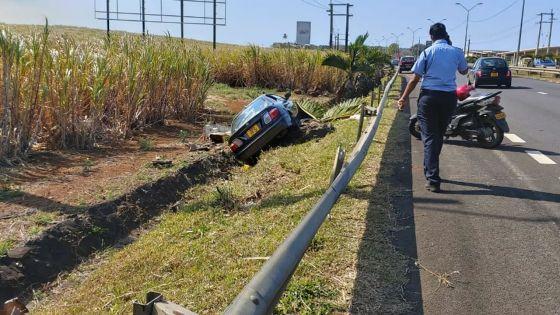 Forbach : une voiture termine sa course dans un caniveau