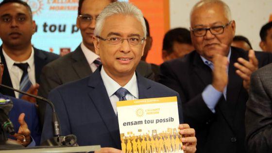 Manifeste électoral de l'Alliance Morisien -Le PM présente «la continuation du travail qui a déjà commencé»