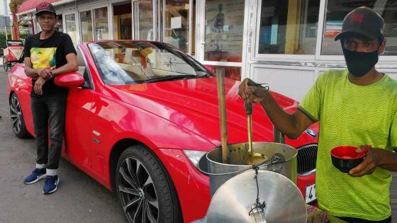 Rony Gangaram à La Louise : son fameux halim à l'agneau et sa BMW décapotable font fureur