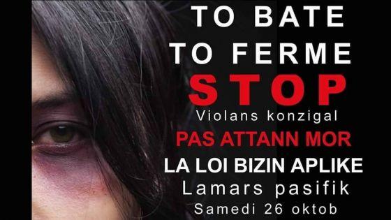 Marche pacifique contre les violences domestiques : rendez-vous ce samediau Jardin de la Compagnie