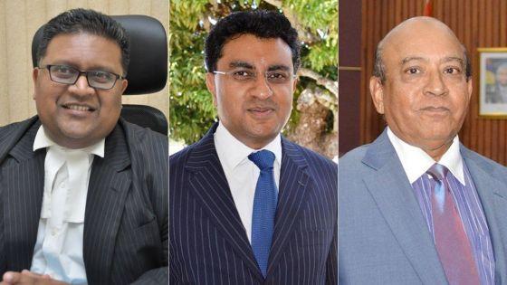 Mes Neil Pillay, Yatin Varma et Rashad Daureeawo.