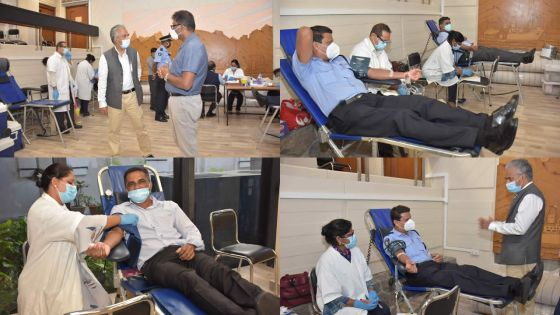[En images] Au Sir Harilall Vaghjee Hall : don de sang pour les fonctionnaires
