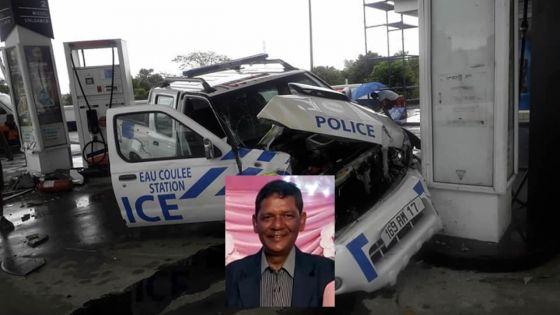 Accident à Wooton : un 4x4 de la police percute une pompe à essence