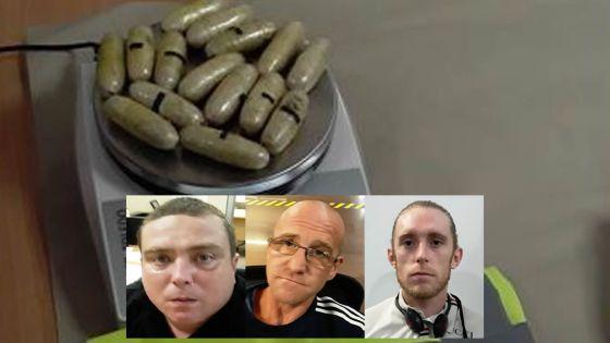 Trafic de drogue : trois mules britanniques arrêtées avec Rs 50 M d'héroïne