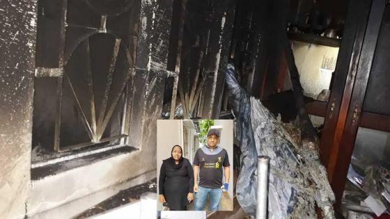 Sa maison incendiée à quelques jours de Noël -Amrine : «Aidez-moi et mes enfants»