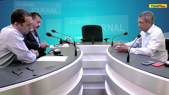 Xavier-luc Duval, leader de l'opposition, sur le plateau du Grand journal